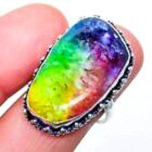 Rainbow Solar Quartz Ring
